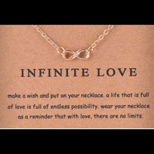 Gold Plated Infinite Love Necklace